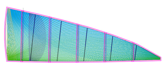 String paths from SailPack software